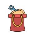 bucket sand shovel play toy beach vector image
