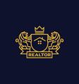 coat of arms realtor vector image