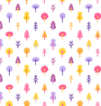 Colorful trees in the park seamless pattern vector image