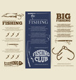 fishing brochure or banners vector image