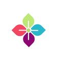 flower geometry beauty logo vector image