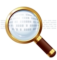 Magnifying glass with replaceable text vector image