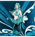 Mermaid in blue vector image