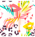 paint dripping lips pattern vector image