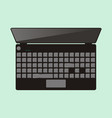 top view of laptop computer vector image