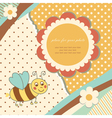 Vintage baby bee vector image