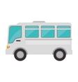 minibus cartoon vehicle vector image