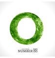 Grunge Number 0 vector image vector image