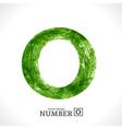 Grunge Number 0 vector image
