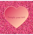 Abstract heart Element for frame vector image vector image