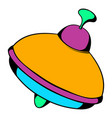 toy spinning top icon icon cartoon vector image