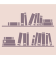 Books on the shelf school or library vector image