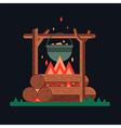 Happy bonfire vector image