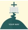 Journey of faith vector image