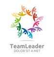 Logo Teamleader Guidance Human Colorful Design vector image