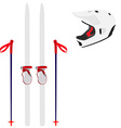 Ski equipment vector image