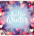 Hello winter blurred background Christmas lights vector image vector image
