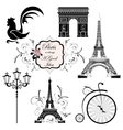 Set on the theme of France vector image