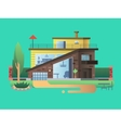 Modern country house vector image