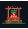 Happy bonfire vector image