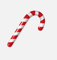 realistic xmas candy cane isolated vector image