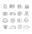 Hand-drawn icons set vector image vector image