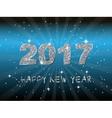 Happy New Year 2017 backgroundTypographic vector image vector image