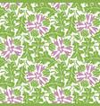 greenery blowball seamless pattern background vector image