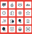 set of 16 ecology icons includes delete woods vector image
