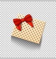 gift box with red ribbon isolated on transparent vector image