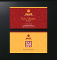 business card both side vector image