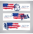 Banners of 4th July backgrounds with American flag vector image vector image
