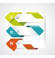 Modern Design Layout - paper progress steps vector image