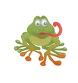 cartoon frog vector image