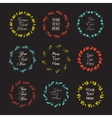 Collection of logos templates ink effect vector image