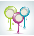 Abstract chatboxes vector image vector image