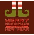 elf legs cartoon icon Merry Christmas design vector image