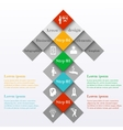Abstract infographic arrow design template vector image