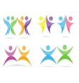 Abstract people logo template vector image