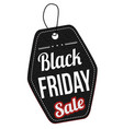 black friday sale label or price tag vector image