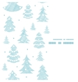 Blue decorated Christmas trees silhouettes textile vector image