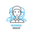 business group concept outline icon linear sign vector image