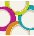 Circle background for a poster or brochure vector image