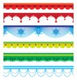 Collection of borders vector image