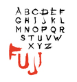 Decorative font Fuji vector image