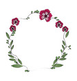floral wreath flowers decoration image vector image