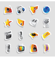 Icons for media and music vector image