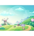 landscape with marmalade candy vector image