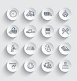 logging line icons sawmill forestry equipment vector image