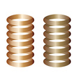 metal springs vector image